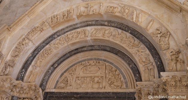 Croatia Trogir Cathedral Entrance - Radovan