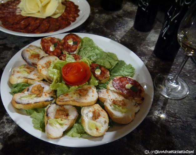 kutjevo - wine tasting food