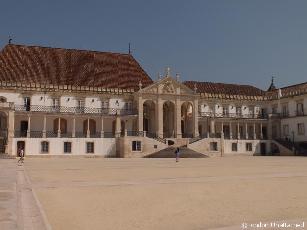 main university square - coimbra