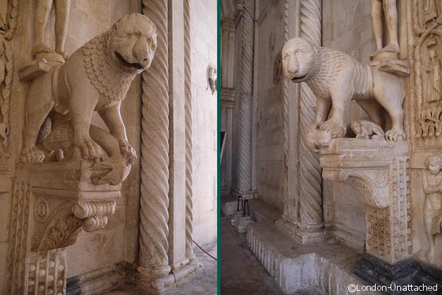 male and female lions - radovan - trogir croatia