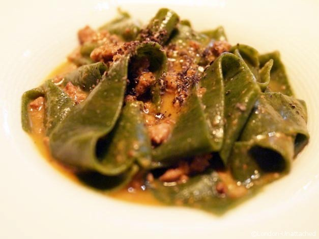 tinello nettle pasta with duck ragu