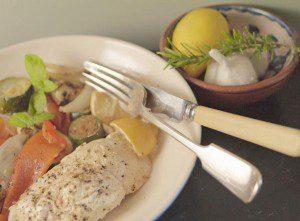 5:2 Fast Diet Baked Lemon and Yoghurt Chicken