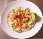 5-2 diet Cauliflower Rice with Garlic Chilli Prawns