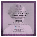 London Cocktail Month at the Cavendish Hotel