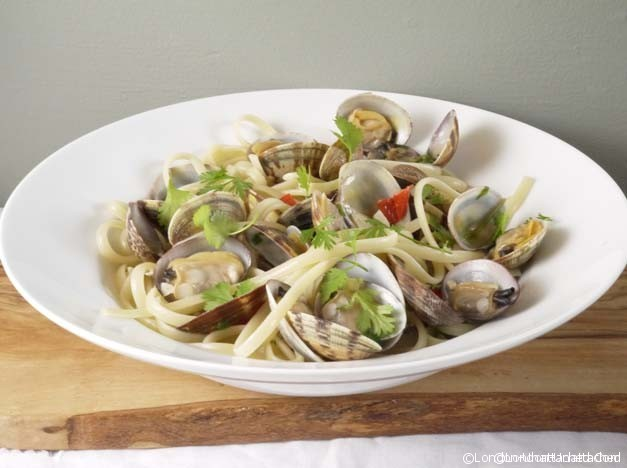 5-2 fast diet Clams with pasta