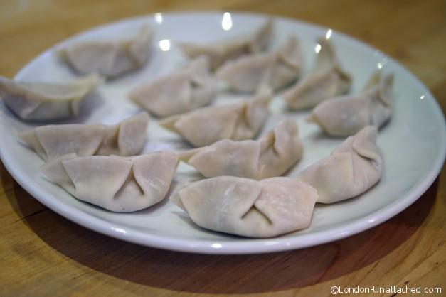 Dumplings filled at School of wok