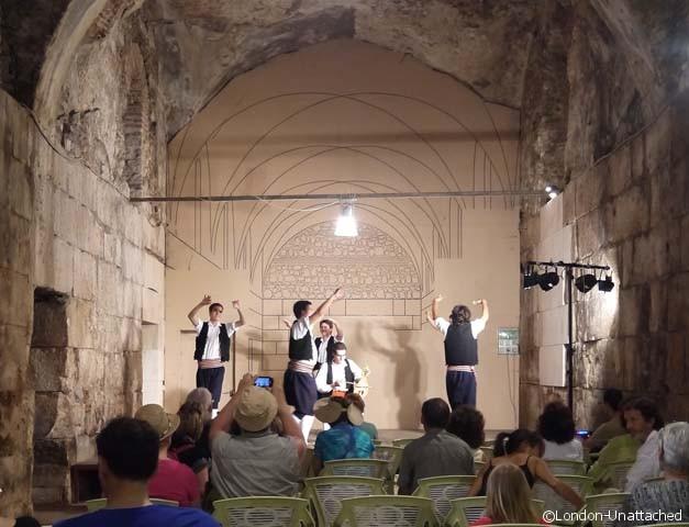 Split croatia - folk dancers in the Palace
