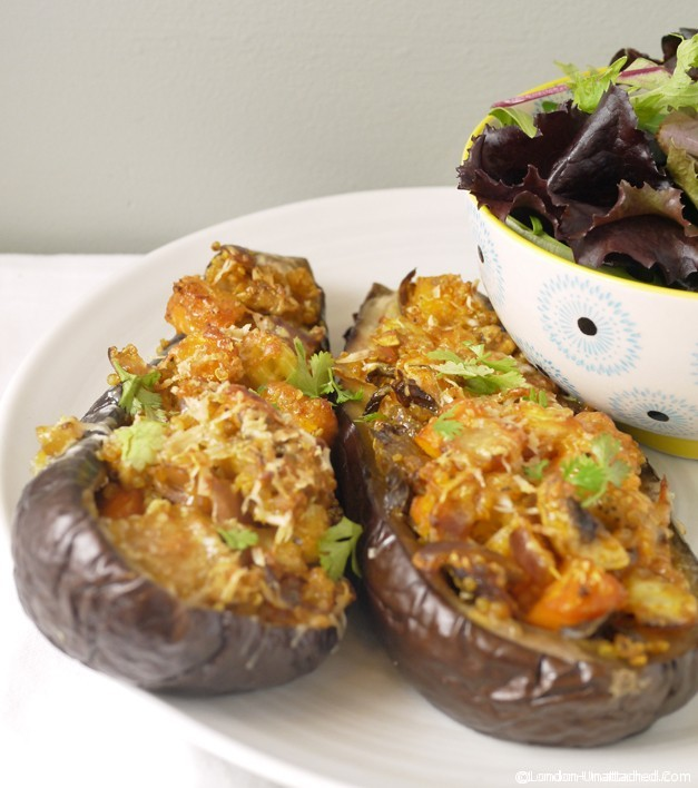 Quinoa Stuffed Aubergine (Eggplant) Recipe for 5:2 Diet