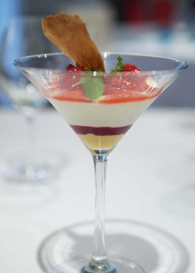 Tartufo restaurant - fresh raspberries