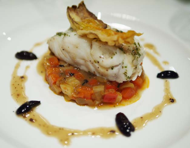 Tartufo review - atlantic cod, classic ratatouille