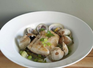 5:2 Fast Day Recipe – White Fish with Clams and Samphire