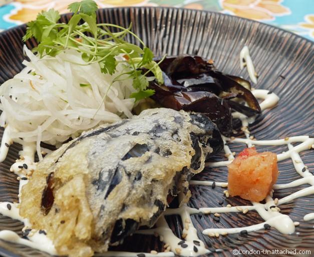 yum yum ninja kyoto style aubergine