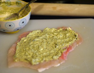 Chicken with Garlic Pesto