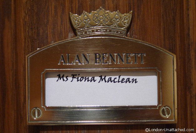 Draycott Hotel - my name on the door