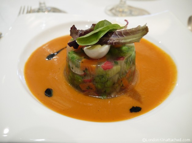 Gazpacho with vegetables