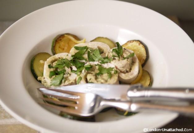 5-2 diet recipe Poached chicken with wild garlic