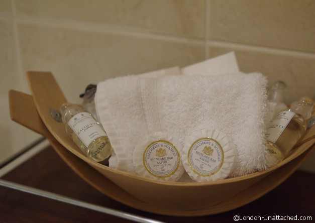 Toiletries, Draycott Hotel