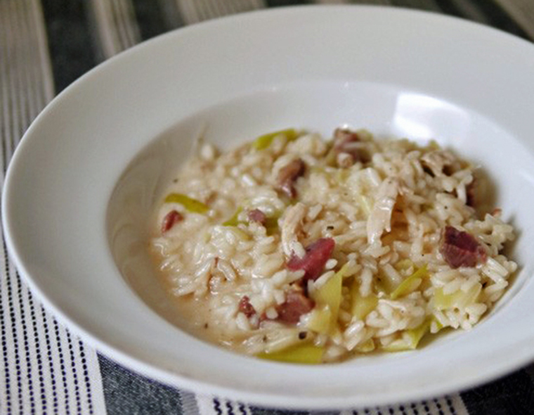 Chicken-Leek-and-Ham-Risotto