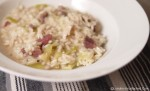 Chicken, Ham and Leek Risotto for Leftovers