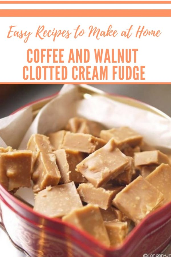 Coffee and Walnut Clotted Cream Fudge