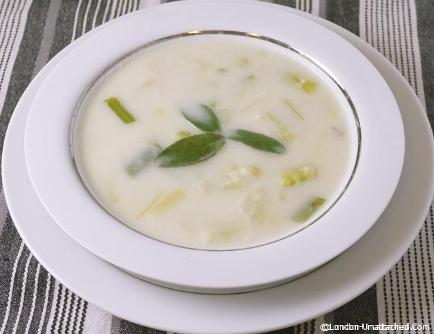 Diet Recipe - Cream of Leek Soup - low calorie cream of leek soup