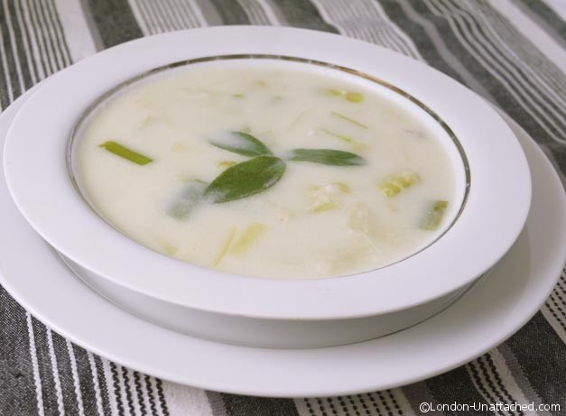 Cream of Leek soup a 5:2 diet recipe