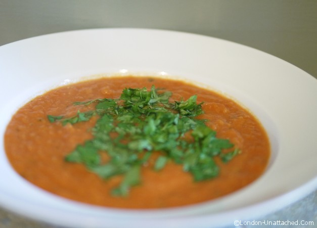 Cream of Tomato Soup with Cauliflower