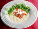 Goats Cheese Risotto with Ham