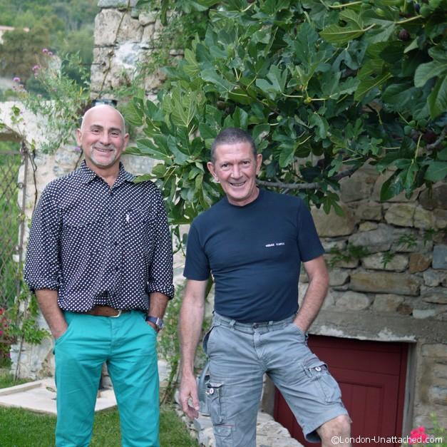 michel and roberto at Chateau de mandagout