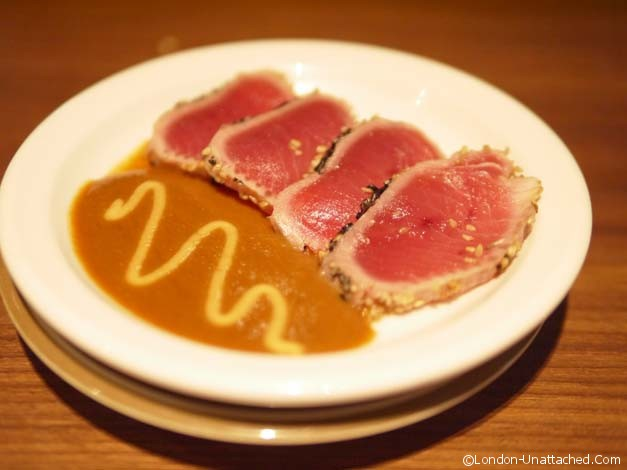 K10 seared Tuna with miso sauce