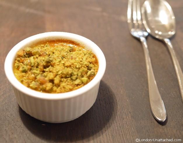 28-50 restaurant pistachio creme brulee