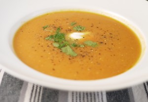 Sweet Potato and Carrot Soup for a 5:2 Diet Fast Day