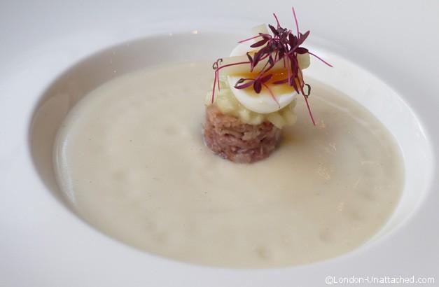 Petrichor - celeriac ham and apple soup