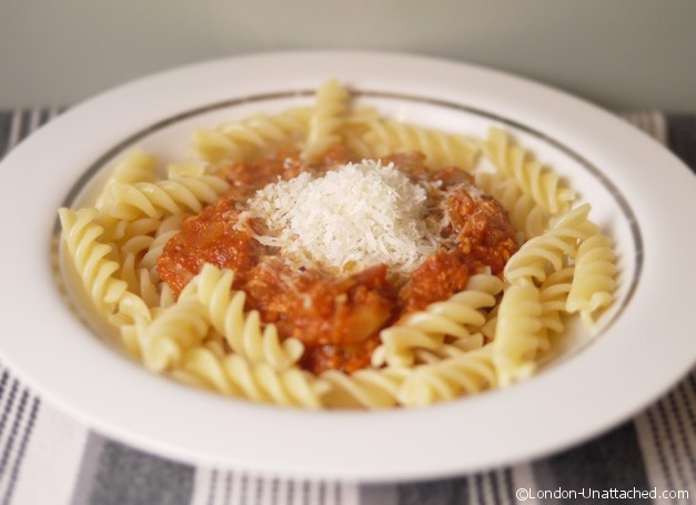 Turkey Bolognese for 5:2 Diet