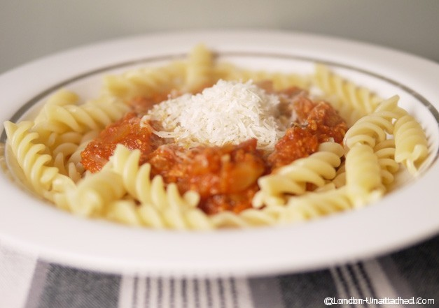 low calorie turkey bolognese