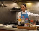 Atsuko demonstrating the fundamentals of Japanese cookery