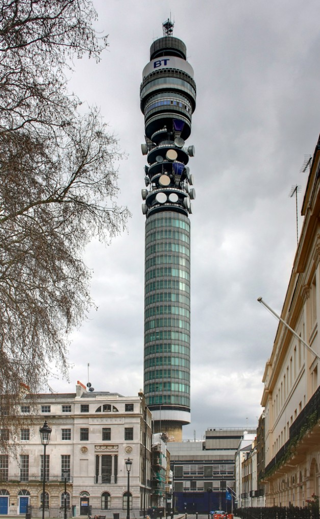 BT Tower - Tweets on the Tower