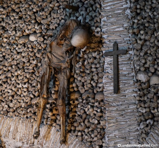 Chapel of Bones - skeleton Evora