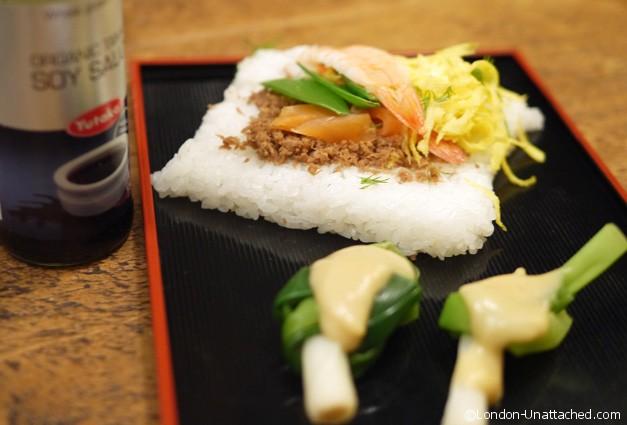 sushi served atsukos kitchen