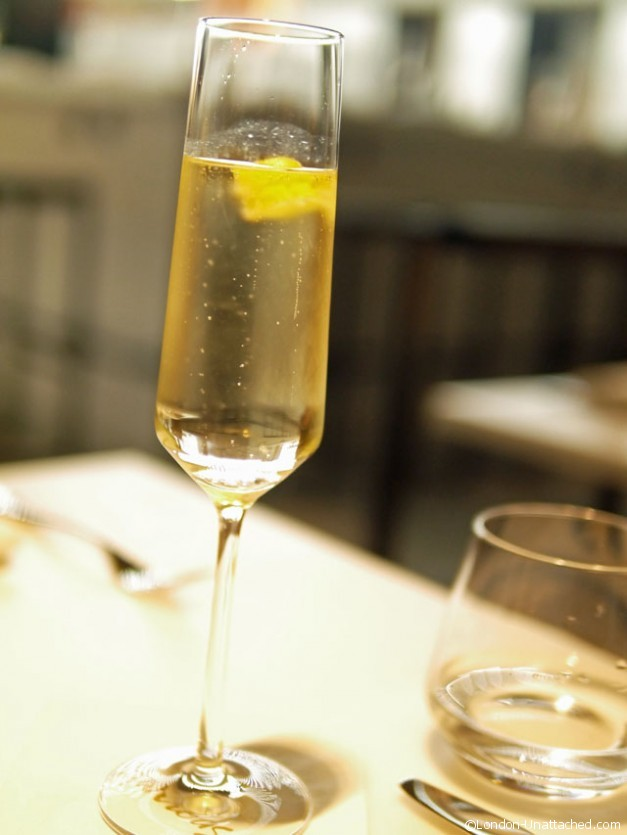 champagne cocktail - Salad Kitchen Harrods