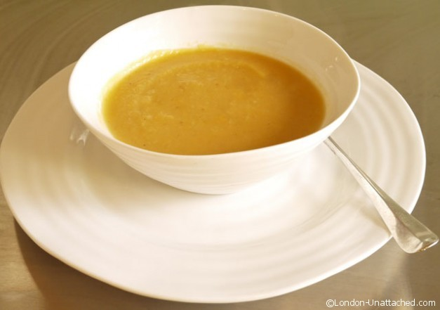 Sweet potato and celeriac soup