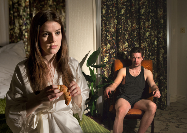 The Hotel Plays (Green Eyes) at The Langham Hotel. Aisling Loftus (Girl) and Gethin Anthony (Boy). Photo credit Simon Annand. (2)