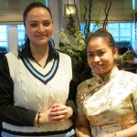 waitresses in costume at chinese cricket club