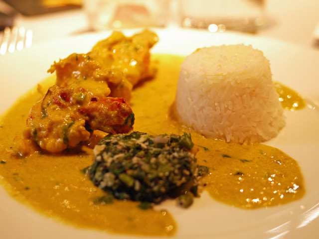 Cinnamon Kitchen Holi - King Prawns in Cocnut Malai Curry, Ghee Rice