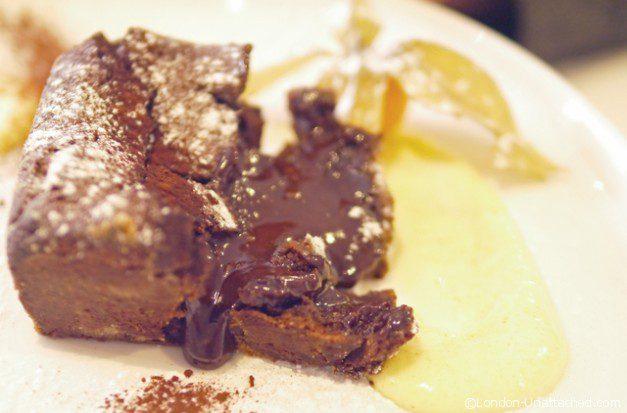Demi Sel Chocolate Flan - Acciuga Restaurant