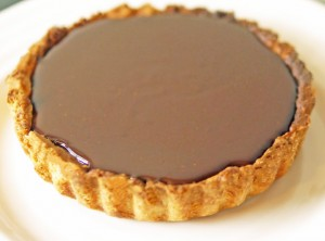 Filled chocolate Ganache Tart