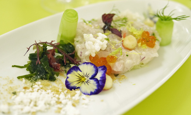 Perrier Jouet Belle Epoque Sea Bream Tartar with Fennel