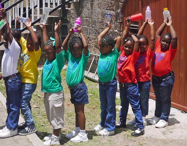 Children at Play - Nelsons Dockyard - Antigua