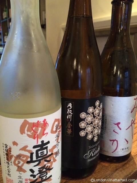 Chisou sake bottles