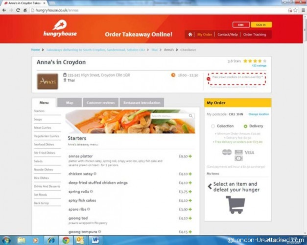 hungryhouse order form 2